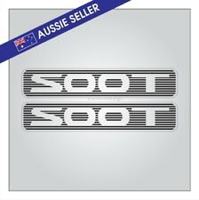 SOOT Stickers PAIR - Suit ST Nissan Patrol GU Series - PRINT ON CLEAR Not V/Cut