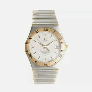 🔥Omega Constellation SS-18K Gold Mens Luxury Wristwatch Automatic Chronometer🔥