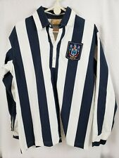 West Bromwich Albion Fc Men's Ls Blue & White Striped Retro Shirt Size Medium