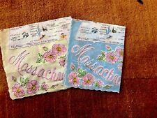 2 - VINTAGE LADIES HANDKERCHIEF MASSACHUSETTS SOUVENIR HANKEY MAP NOS