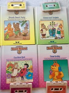 Worlds of Wonder Teddy Ruxpin - 4 Tapes And matching Books set 2