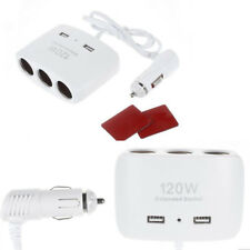 Prise Allume Cigare 3 Ports DC 12V + 2 Port USB Chargeur Adaptateur Multiprise