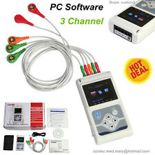 3-Channel 5-leads ECG / EKG Holter analisi software Elettrocardiogramma CONTEC