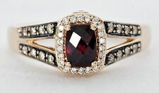 Le Vian Raspberry Rhodolite Garnet Ring 1/3 CTW Chocolate Diamonds 14K Rose Gold