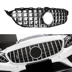 For Mercedes Benz W205 GT R Grill Grille C200 C250 C350 2015-2018 W/Camera