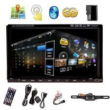 """Camera+7"""" In Dash 2 Din Car Stereo DVD Player GPS Navigation 3D Bluetooth"""