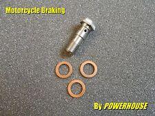 1x Stainless steel double Banjo Bolt M10 x 1.0mm Honda Suzuki Ducati Aprilia KTM