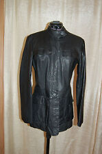 Armani Exchange Black Leather Buttom Closure Jacket Size M