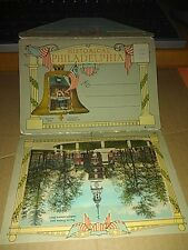 Vintage Postcard Souvenir Folder Historical Philadelphia PA 18 Color Views