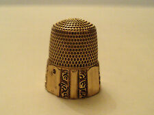 VICTORIAN PERIOD 14k SOLID GOLD #9 SEWING THIMBLE, HEXAGON HONEYCOMB DESIGN