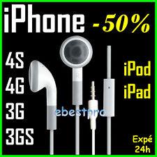 Accessoire Casque Kit Main Libre Pieton Ecouteur iPhone 3G S iPod +Film