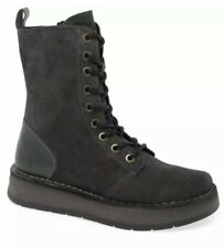 BRAND NEW.. Fly London Rami Womens Lace Up Ankle Boots DIESEL OIL SUEDE size 6uk