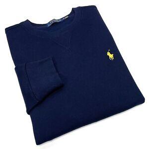 Polo Ralph Lauren Men's Crew Neck Sweater In Navy Blue Size S