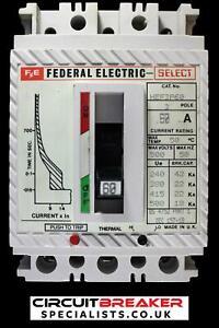 FEDERAL ELECTRIC 60 AMP 22 kA TRIPLE POLE MCCB SELECT HEF3P60