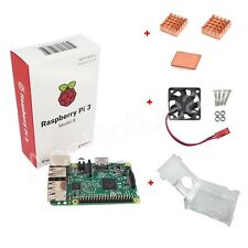 Raspberry Pi 3 Model B 1GB RAM Quad Core 1.2GHz CPU + Case + Fan + Heat Sink Kit