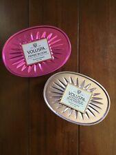 Voluspa Perse Bloom + Aurantia Blackberry 2 Wick Oval Tin Set Of 2