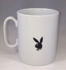 Playboy Bunny Coffee Mug White and Black Cool Graphic Design Hugh Hefner Vintage