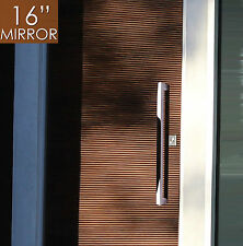 "Pull Push 16"" Handles for Entrance Entry Front Door,Rectangle, Mirror"