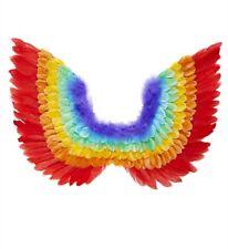 Ali in piuma arcobaleno multicolor raimbow pappagallo 60x50 cm