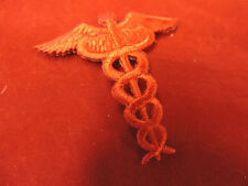 EMBROIDERED IRON ON NURSE CADUCEUS APPLIQUE 3472-E