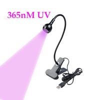 3W 365nm LED USB Inks Curing Ultraviolet Lamp UV Blacklight Gooseneck UV-A Light