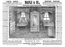 MAPLE & CO Furnishers, Tottenham Court Road - Victorian Advertisement 1886