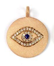 "14k Rose, Yellow or White Gold "" Evil Eye"" Diamond Pendant (Dia 0.08cts )"