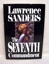 The Seventh Commandment By Lawrence Sanders Used Book Hardback W/Dust Cover