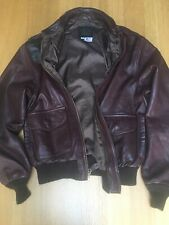 Avirex Mens Size38 Small 42in Made USA Type A-2 Military Army Air Forces Jacket