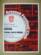 1969/70 COPPA EUROPEA FIERE-Arsenal V Sporting Club de Portugal, 26 Nov