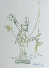 """GOOFY """"How to fish"""" 1942 signed Walt Disney  LITHOGRAPH 20"""" X 26"""""""
