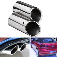 2x Embout Tuyau Pot d'échappement pour VW Golf VI VII Scirocco Sagitar 1.4T TSI