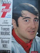 TELE 7 JOURS N° 542 BERNARD NOËL VIDOCQ GREGORY PECK JERRY LEWIS P. TORNADE 1970