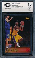 KOBE BRYANT 1996-97 TOPPS NBA AT 50 BCCG 10 ROOKIE CARD #138 CHROME FOIL BGS/PSA