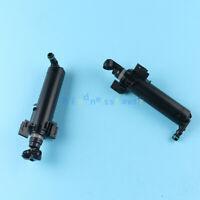 X2 LH & RH Headlight Washer Sprayer Nozzle Pump Cylinder For Audi A4 B8 2008-15