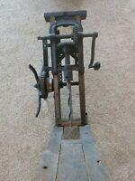 Antique Barn Beam Boring Drill Auger Press Borer Man Cave Decor