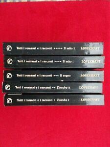 Lovecraft Tutti i romanzi e racconti Newton 1993 5 volumi