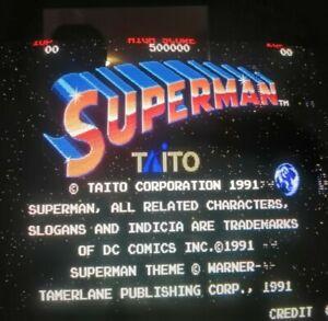 TAITO Arcade SUPERMAN Pcb jamma  Funzionante ORIGINAL Working ( With Linea )