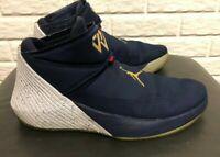 Nike Jordan Why Not Zero.1 Mens Navy/Metallic Gold AA2510 431 Size 13