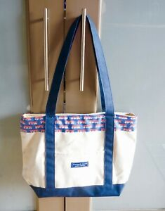 New VINEYARD VINES  Custom Coll NANTUCKET RACE WEEK Sailboats Canvas Tote Bag