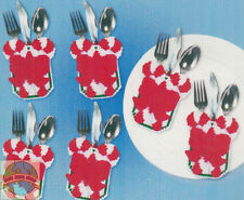 Plastic Canvas Kit ~ Christmas Candy Cane Silverware Pockets (6) #DW1889 SALE!