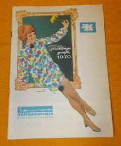 DDR Konsument Versandhaus Katalog von 1970 mit originalen Bestellzettel Ostalgie