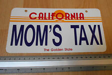 California Mom's Taxi Plastic Licence Plate