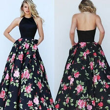 Damen Party Abendkleid Brautjungfern Cocktailkleider Ballkleid Lang Sommer Kleid
