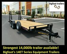 14K 7 Ton Equipment Trailer Hauler Open Flatbed 7x20 22ft 24ft