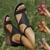 Womens T-Thong Ankle Strap Flat Sandals Ladies Summer Gladiator Beach Shoes!
