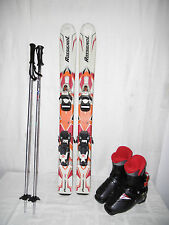 "ROSSIGNOL "" PURSUIT "" SKI JUNIOR ALLROUND CARVER 93 CM + SKISCHUHE GR.: 30 SET"
