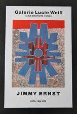 Lithographie  Jimmy ERNST Galerie Lucie WEILL Mai 1972