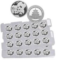 Sheet of 15 - 2019 China 30 g Silver Panda ¥10 Coins GEM BU PRESALE SKU55882