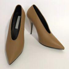 Stella McCartney Women Shoes Size 39.5 NIB Scarpa Sligo Tan Heels Beige